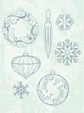 Het ontwerpelementen van Kerstmis royalty-vrije illustratie