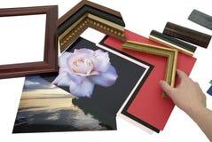 Het ontwerpen van frame project Stock Foto's