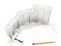 Het ontwerpen van het huis Royalty-vrije Stock Fotografie
