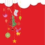 Het ontwerpillustratie van de Kerstmisdecoratie Stock Afbeeldingen