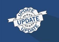 het ontwerpinsignes van de update grunge zegel Stock Afbeelding