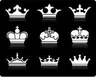 Het ontwerpinzameling van de kroon Royalty-vrije Stock Foto