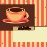 Het ontwerpkaart van de koffie Stock Afbeeldingen