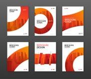 Het ontwerplay-out van de brochuredekking voor zaken en bouw wordt geplaatst die Royalty-vrije Stock Afbeeldingen