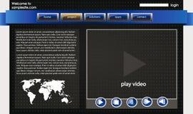 Het ontwerpmalplaatje 32 van de website vector illustratie