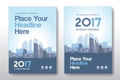 Het Ontwerpmalplaatje stads Achtergrond van de Bedrijfsboekdekking in A4 Royalty-vrije Stock Foto's