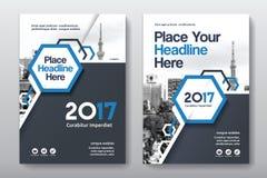 Het Ontwerpmalplaatje stads Achtergrond van de Bedrijfsboekdekking in A4 Stock Foto's