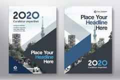 Het Ontwerpmalplaatje stads Achtergrond van de Bedrijfsboekdekking in A4 Royalty-vrije Stock Foto