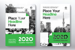 Het Ontwerpmalplaatje stads Achtergrond van de Bedrijfsboekdekking in A4 Royalty-vrije Stock Afbeeldingen
