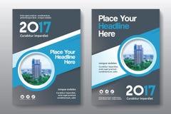 Het Ontwerpmalplaatje stads Achtergrond van de Bedrijfsboekdekking in A4 Stock Afbeelding