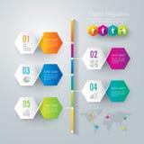 Het ontwerpmalplaatje van chronologieinfographics. Royalty-vrije Stock Foto