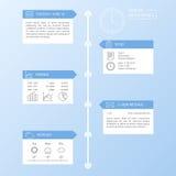 Het Ontwerpmalplaatje van chronologieinfographics Stock Afbeelding