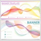 Het ontwerpmalplaatje van de banner Stock Fotografie