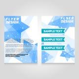 Het ontwerpmalplaatje van de brochurevlieger De vectorillustratie van de overlegaffiche Royalty-vrije Stock Foto