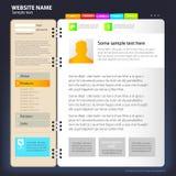 Het ontwerpmalplaatje van de website. Stock Foto