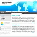 Het ontwerpmalplaatje van de website. Stock Afbeeldingen