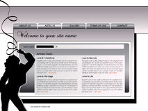 Het ontwerpmalplaatje van de website Stock Fotografie
