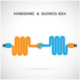 Het ontwerpmalplaatje van het handdruk abstract teken Bedrijfs creatieve conce Royalty-vrije Stock Afbeeldingen