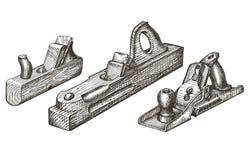 Het ontwerpmalplaatje van het hulpmiddelen vectorembleem vliegtuig, fuganok Stock Foto's