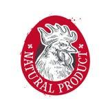 Het ontwerpmalplaatje van het kippen vectorembleem voedsel of ei royalty-vrije illustratie