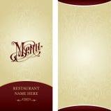 Het ontwerpmalplaatje van het menu Stock Afbeeldingen