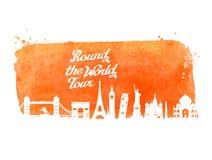 Het ontwerpmalplaatje van het reis vectorembleem reis of reis, reispictogram Stock Foto's
