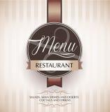 Het ontwerpmalplaatje van het restaurantmenu Stock Afbeelding