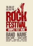 Het ontwerpmalplaatje van het rotsfestival. Stock Afbeeldingen