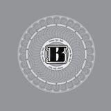 Het Ontwerpmalplaatje van het Spirographicmonogram met hoofdletter B in centrum Royalty-vrije Stock Afbeeldingen