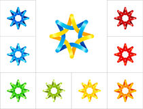 Het ontwerpmalplaatje van het sterembleem Royalty-vrije Stock Afbeeldingen