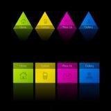 Het ontwerpmalplaatje van het Web Stock Afbeeldingen