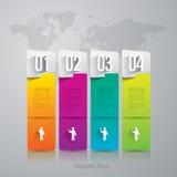Het ontwerpmalplaatje van Infographics Stock Foto