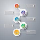 Het ontwerpmalplaatje van Infographics Stock Afbeelding