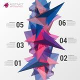 Het ontwerpmalplaatje van Infographics Abstract driehoeksconcept Vector Royalty-vrije Stock Foto's