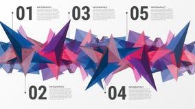 Het ontwerpmalplaatje van Infographics Abstract driehoeksconcept Vector Stock Afbeeldingen