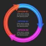 Het ontwerpmalplaatje van Infographics Cirkelpijlen Stock Foto's