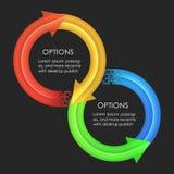 Het ontwerpmalplaatje van Infographics Cirkelpijlen Royalty-vrije Stock Fotografie