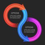 Het ontwerpmalplaatje van Infographics Cirkelpijlen Stock Foto
