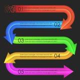 Het ontwerpmalplaatje van Infographics pijlen Royalty-vrije Stock Foto's