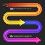 Het ontwerpmalplaatje van Infographics pijlen Royalty-vrije Stock Afbeeldingen