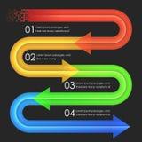 Het ontwerpmalplaatje van Infographics pijlen Stock Afbeelding