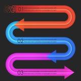 Het ontwerpmalplaatje van Infographics pijlen Stock Fotografie