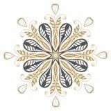 Het ontwerpmanier van de Mandalahenna Royalty-vrije Stock Afbeelding