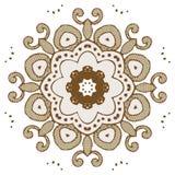 Het ontwerpmanier van de Mandalahenna Stock Afbeelding