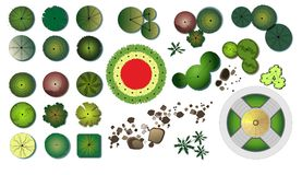 Het ontwerppictogrammen van tuinbomen Royalty-vrije Stock Afbeeldingen