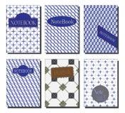Het ontwerpreeks van de notitieboekjedekking Royalty-vrije Stock Foto