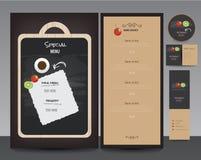 Het ontwerpreeks van het restaurantmenu Royalty-vrije Stock Foto