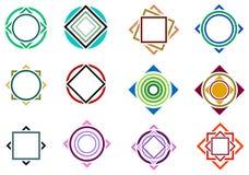Het ontwerpreeks van het vierkant en van de cirkel royalty-vrije illustratie