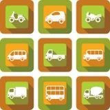 Het ontwerpreeks van het voertuigpictogram Stock Foto