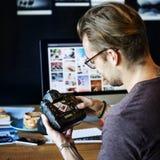 Het Ontwerpstudio van de camerafotografie het Uitgeven Concept Royalty-vrije Stock Foto's